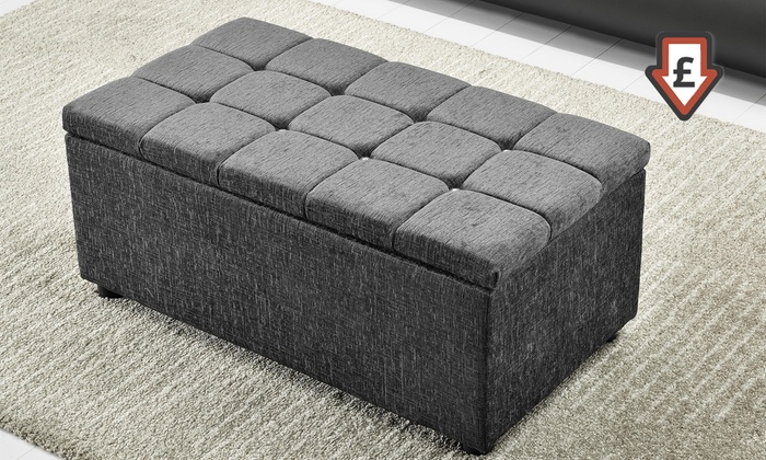 Superb Square Ottoman Storage Box Groupon Goods Gmtry Best Dining Table And Chair Ideas Images Gmtryco