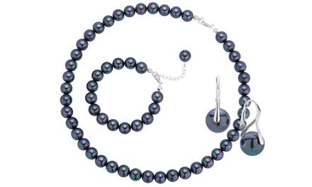 Od 99,99 zł: 3-częściowy zestaw biżuterii Coccola ze stopniowanych pereł opalizujących (-90%)