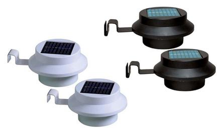 2 o 4 luci solari da grondaia disponibili in 2 colori