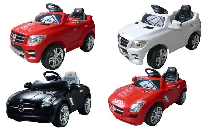Kids Mercedes ML-350 & SLS 6V Ride-On Cars