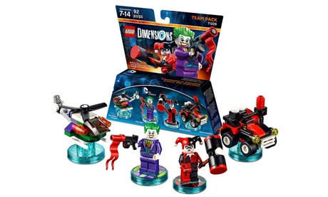 LEGO Dimensions DC Comics Joker and Harley Quinn Team Pack Video Game photo