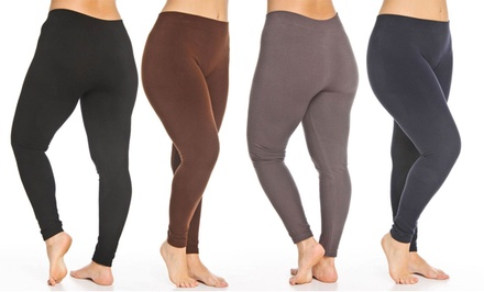 Plus Size French Terry Leggings. Multiple Colors Available. Free Returns.