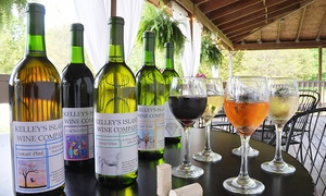 Kelley's Island Wine Company: Wine Tasting with Snacks for Two or Four at Kelley's Island Wine Company (Up to 48% Off)