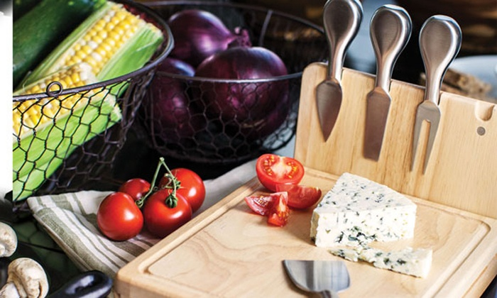... NFL Asiago Cheese Cutting Board with Magnetic Stainless Steel Tools ... 4f385c768