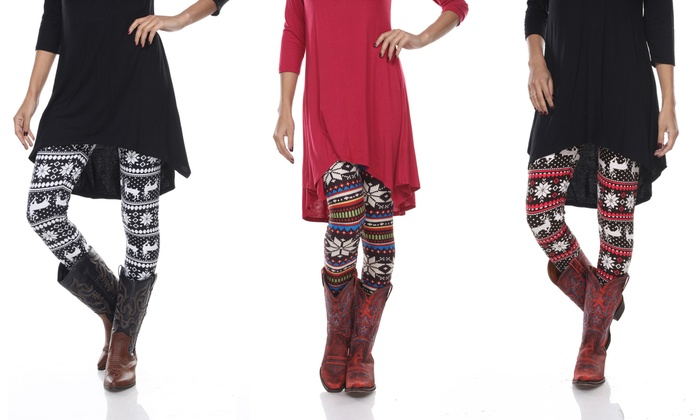 Womens Holiday Leggings