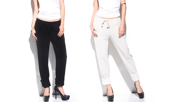 Women's Boyfriend Pants: Women's Boyfriend Pants in Black or Oatmeal