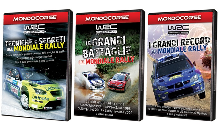 Groupon Goods Global GmbH: Collezione Mondiale Rally WRC in 3 DVD a 17,90 € (40% di sconto)