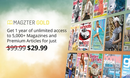 $29.99 Months of Unlimited Online Magazines from Magzter Don't pay $99