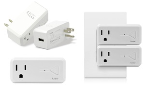 iView WiFi Mini Smart Outlet Plug with USB Ports (2-Pack)