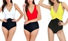 Women's One Piece Patchwork Swimsuit