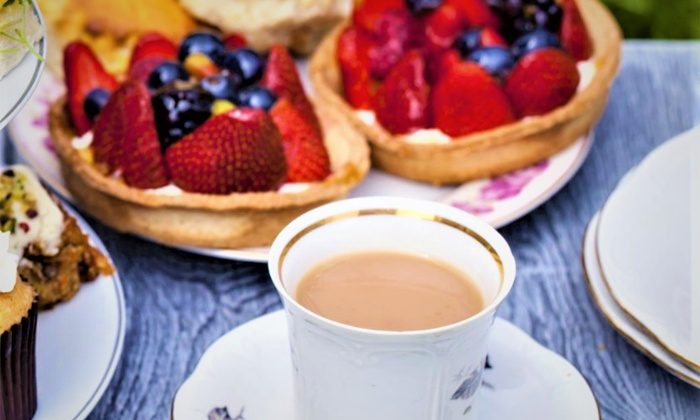Picnic Bench Classic or Sparkling Afternoon Tea for Two or Four at Bistro Le Jardin, High Trees Garden Centre