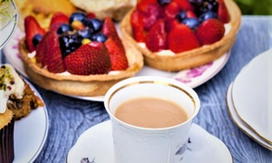 High Trees Garden Centre: Picnic Bench Classic or Sparkling Afternoon Tea for Two or Four at Bistro Le Jardin, High Trees Garden Centre (33% Off)