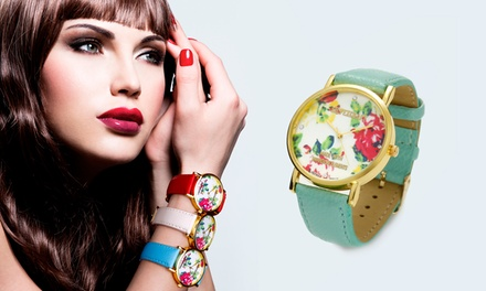 Flowers Watch Made with Crystals from Swarovski® for £7.99 (80% Off)