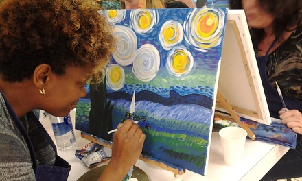 Two-Hour BYOB Painting Class with Chips and Salsa for One or Two at A Painting Fiesta (Up to 50% Off)
