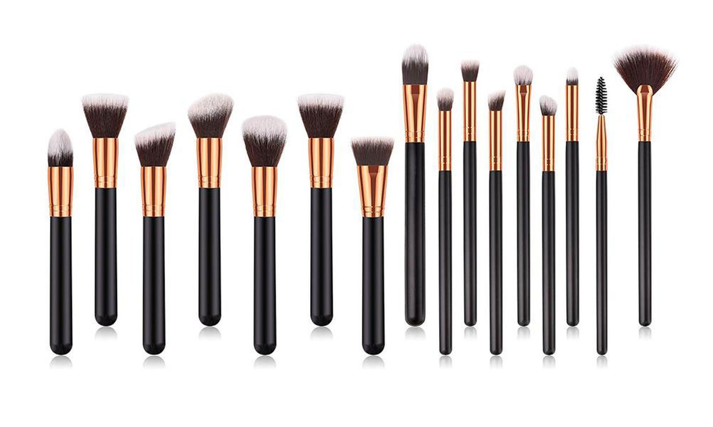 One or Two Glamza 16-Piece Kabuki Make-Up Brush Sets