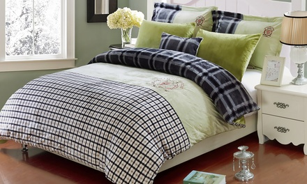 Fleece Duvet Cover Sets (4 or 6 Pieces)