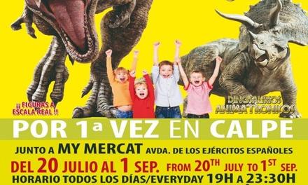 2 entradas adulto o niño a ''Mundo Dinosaurios'' hasta el 1 de septiembre en Alicante (con 29% de descuento)