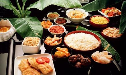 Arnhem: Indonesische rijsttafel voor 28 personen om af te halen bij Pondok Kita Kronenburg