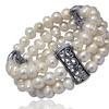 200.00 CTTW Genuine Freshwater Pearl Triple Strand Bracelet