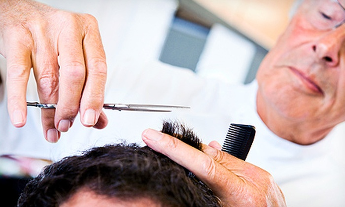 D's Barbershop - New Hyde Park: One Men's Haircut with Optional Shave or Three Men's Haircuts at D's Barbershop (Up to 58% Off)