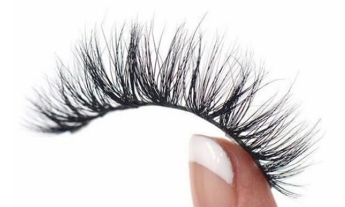 One, Two or Three Pairs of Mink Double Magnet Magnetic Eyelashes with Optional Applicator (£2.99)