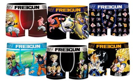 Pack de 3 ou 6 boxers aléatoires assortis Freegun, Dragon Ball Z pour Homme et Enfant