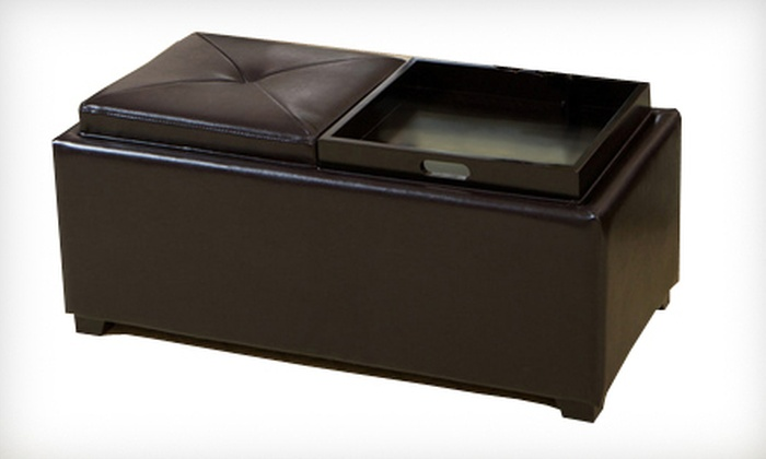 Devonshire Espresso Leather Tray Ottoman: $99 for a Devonshire Espresso Leather Tray Ottoman ($229.99 List Price). Free Shipping.