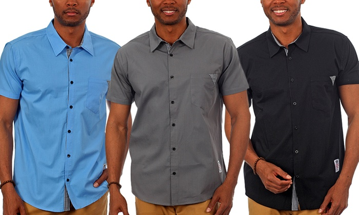 Men's Short-Sleeve Button-Down Shirts