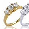 1.50 CT.TW. Certified Diamond 3-Stone Ring in 14K Gold