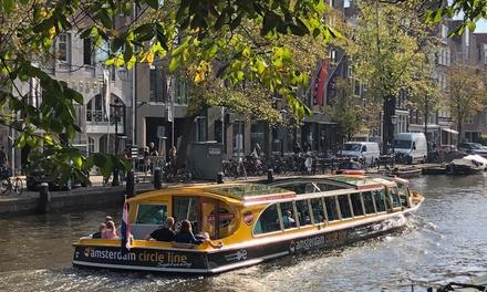 Amsterdam: rondvaart van 90 min. of 24 uur hoponhopoff in een luxe boot van Amsterdam Circle Line