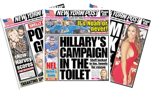 "New York Post: 13- or 26-Week Daily Print Subscription to the ""New York Post"" (Up to 42% Off)"