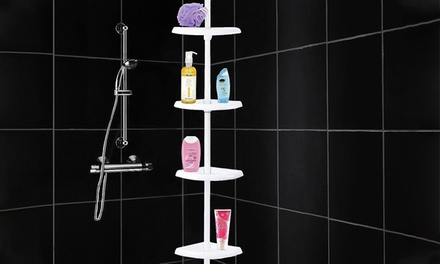 FourTier Telescopic Corner Shower Organiser