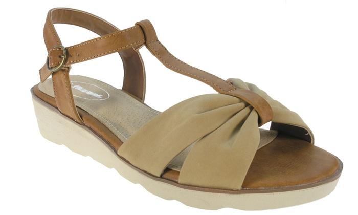 sandales compens es beige beppi groupon shopping. Black Bedroom Furniture Sets. Home Design Ideas