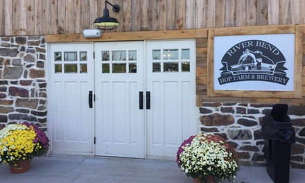 One or Two Complimentary Appetizers with Draft Beers for Two or Four at  River Bend Hop Farm And Brewery