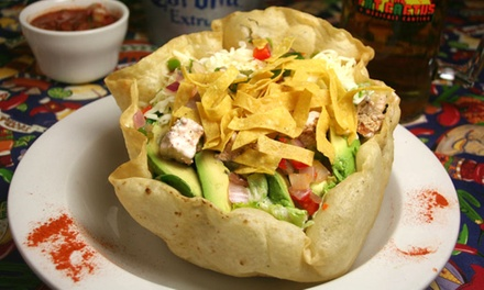 Mexican Food for Dinner at The Fat Cactus (48% Off). Three Options Available.