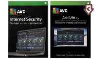 Licences AVG Anti-virus et Internet Security 2017 de 2 ans pour 3 PC