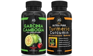 Garcinia with Apple Cider and Turmeric Weight-Loss Supplement Combo