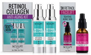 Sculpt Retinol Collagen and Facelift Kit (3-Piece)
