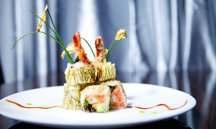 Blue Fish Japanese Restaurant and Lounge - Hicksville: Japanese Cuisine with Drinks at Blue Fish Japanese Restaurant and Lounge (Up to 59% Off). Two Options Available.
