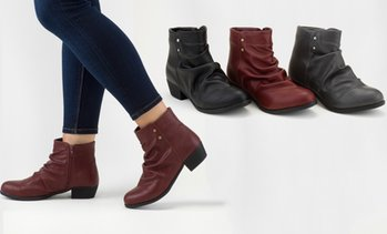 Olive Street Women's Slouch Bootie (Up To Size 12) | Groupon Exclusive