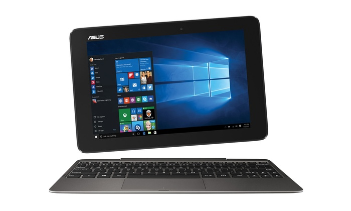 "Groupon Goods: ASUS 10.1"" T100 Transformer Book Refurbished Laptop with 1 Year of McAfee Anti-Virus (Shipping Included)"