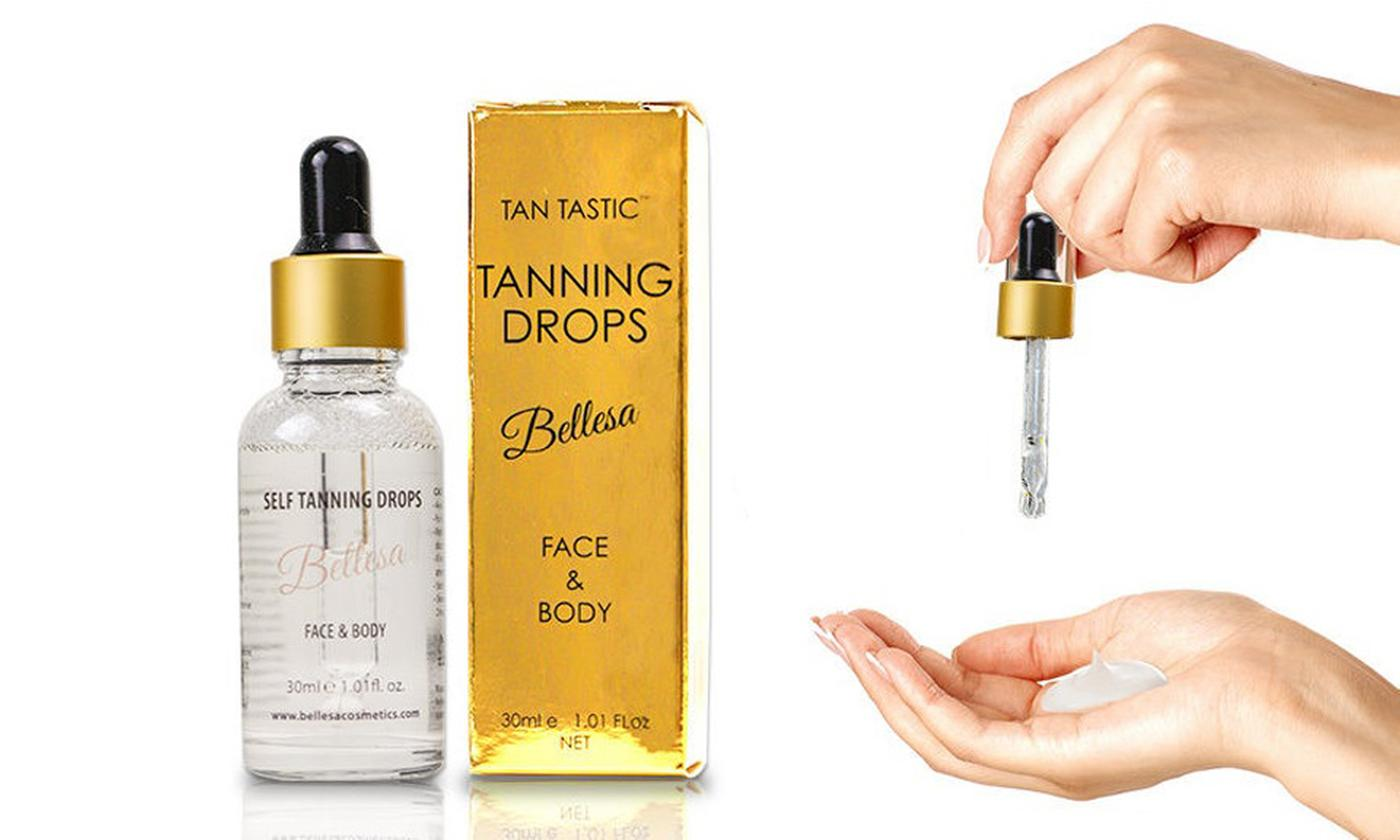 One, Two or Three Bottles of Self Tanning Drops
