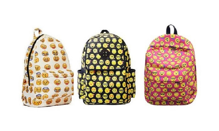 09d88c1f3b Canvas Emoji Backpack with Back to School Essentials