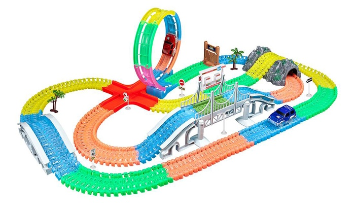 2-Pack-Light-Up-Track-Replacement-Glow-in-the-Dark-Race-Cars-Trains-Toy-for-Kids