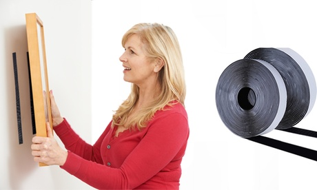 One, Two or Four Rolls of 5m Heavy-Duty Hook and Loop Tape