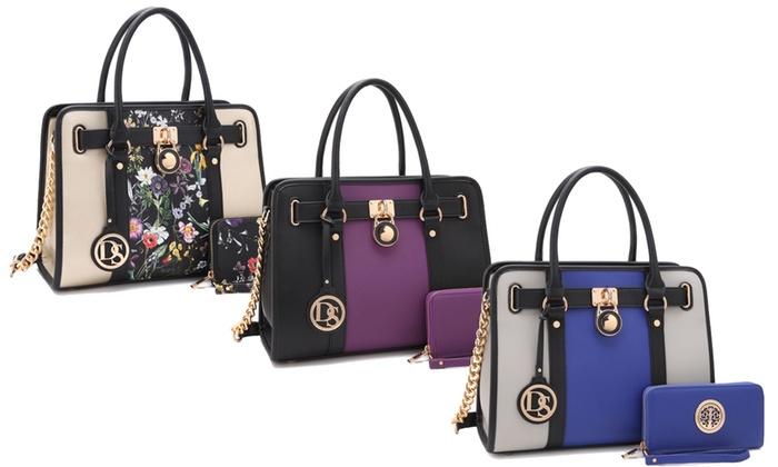 d6cbad4131e174 Up To 44% Off on Satchel Handbag with Wallet | Groupon Goods