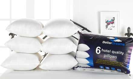 Six Better Dreams Non-Allergenic Fibre-Filled Pillows