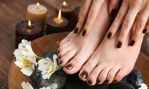 Bling It Nail and Beauty Salon: Manicure with Gelish Overlays from R132 for One with Optional Pedicure at Bling It Nail and Beauty Salon (Up to 61% Off)