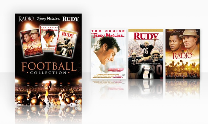 Football DVD Box Set with Jerry Maguire, Radio, and Rudy: Football DVD Box Set with Jerry Maguire, Radio, and Rudy. Free Returns.