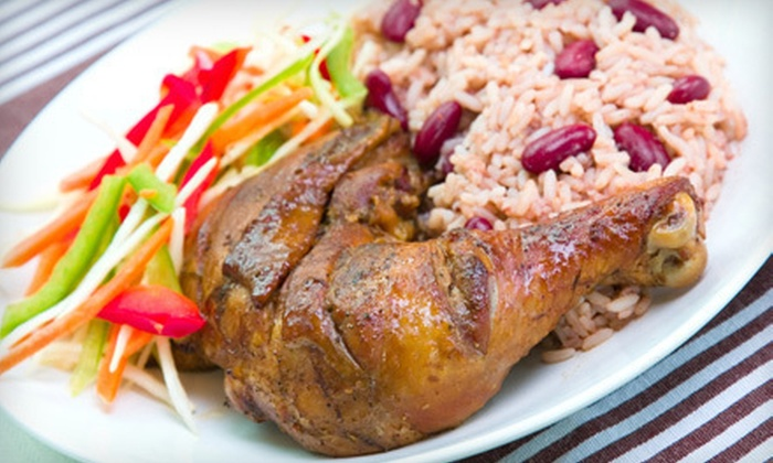 Voy Bar and Grill - Niagara Falls: $12 for $25 or $24 for $50 Worth of Jamaican Food at Voy Bar and Grill in Niagara Falls